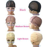 Glueless Wig Caps For Making Wigs Stretch Lace Weaving Cap Adjustable Straps