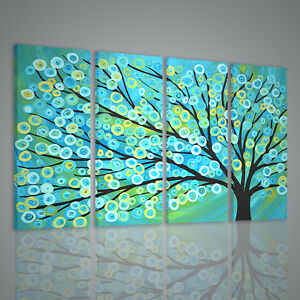 QUADRI MODERNI BLUE GOLD TREE QUADRO MODERNO XXL STAMPA SU ...