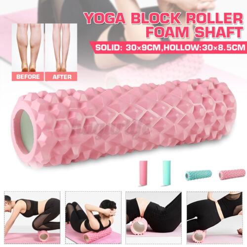 30cm Yoga Pilates Massage Column Fitness Gym Exercise Sports EVA Foam Roller US