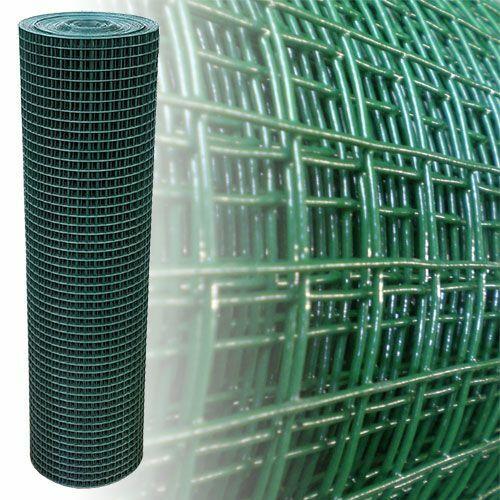 Volierendraht Maschendraht 150cm 12,5m 12mm grün 4-Eck Drahtgitter Zaun