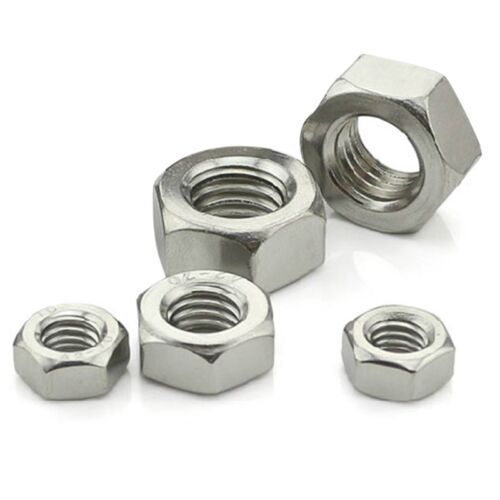 100pcs//set  M3 M4 M5 M6 STAINLESS STEEL HEX FULL NUTS HEXAGON NUT Wholesale