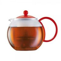 Bodum Assam 4-cup Tea Pot 34oz Tea Press European 1844-294 Red