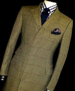 Caja-De-Lujo-Para-Hombre-Alfred-Dunhill-London-Chaqueta-de-Abrigo-de-tweed-cheque-40R