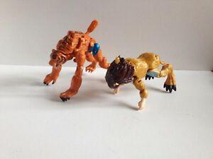 2x Animorphs Action Figures Rachel Lion Jake Tiger Vintage 1998 Hasbro