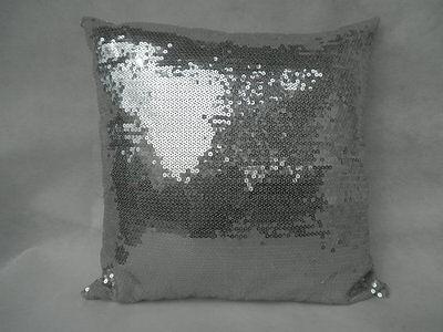 1PCS 42x42cm Silver Sequins Sofa Decoration Throw Pillow Cushion Cover