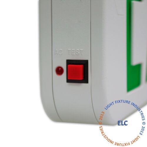 2Pack Green LED Emergency Exit Light Sign Modern Battery Backup UL924 LEDGBBJR