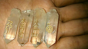 Quartz Crystal Natural Point Usui Reiki A+ Healing Sets Chakra Balancing Stones