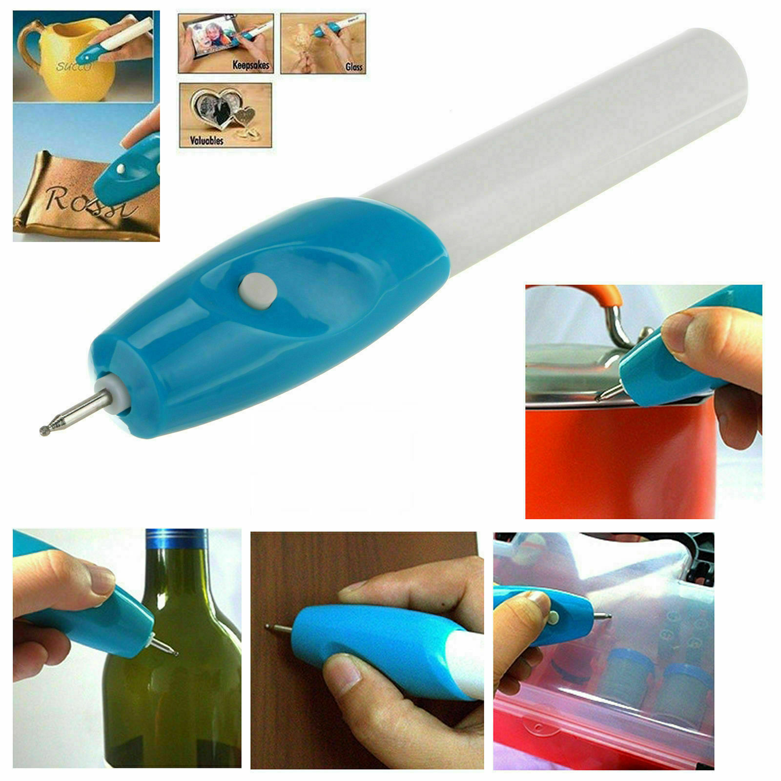 Engraving Etching Pen Hobby Craft Rotary Handheld Tool For Metal Glass Jewellery 4