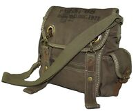 Canvas Vintage Look Casual Small Size Messenger Cross Body Shoulder Bag - Green