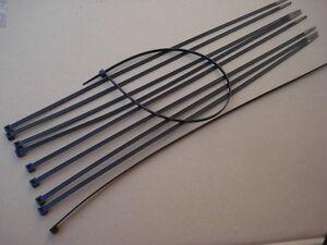 Lote-de-10-abrazaderas-cables-gomas-para-el-hijo-en-negro-longitud-430mm