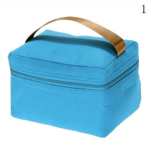 Neu Tragbar Mittagessen Picknick Lunch Box Leinwand Tasche IsolierungHandtasche!