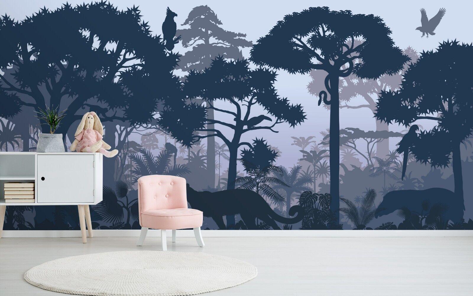 3D Nacht Wälder 5611 Textur Fliesen Marmor Tapeten Tapete Wandbild AJ