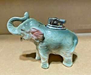 1964-GOP-Amico-Elephant-Ceramic-Figurine-With-Lighter-Japan-Vintage-Collectible