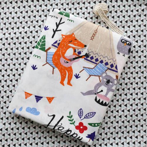 Piezas de una tela de algodón tela del edredón Tela Precortadas Para Coser Lindo Fox G770