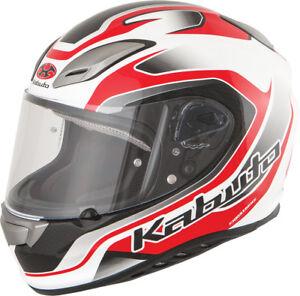 Kabuto Aeroblade Iii Torrent Full Face Motorcycle Helmet White Red