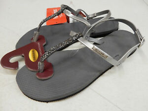 52005233f Image is loading HAVAIANAS-WOMENS-SANDALS-YOU-RIVIERA-CRYSTAL-SANDAL-STEEL-