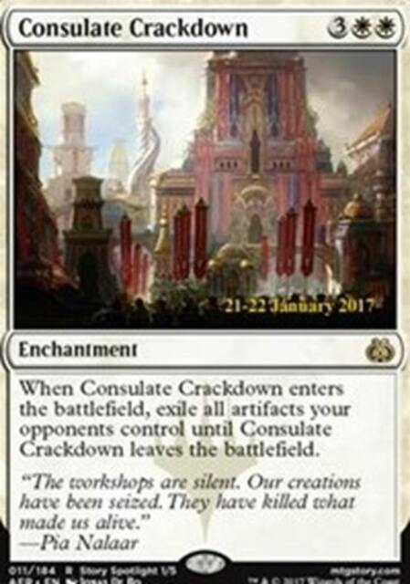 MTG Magic - (R) Aether Revolt - Consulate Crackdown Prerelease FOIL - NM