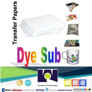 Details about Dye Sublimation Transfer Paper for Sawgrass and Epson 100  sheets 8 5x14 per pack