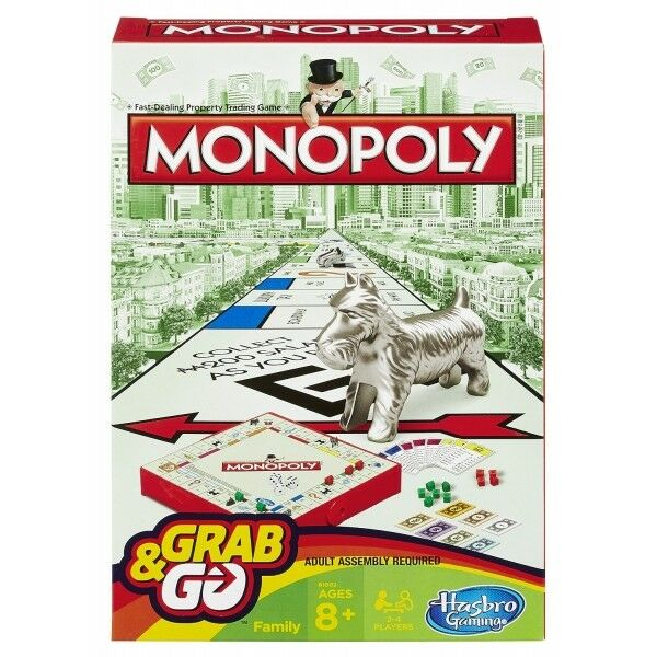 Hasbro Monopoly Grab Board and Go Travel Board Grab Game B1002 New 802fac