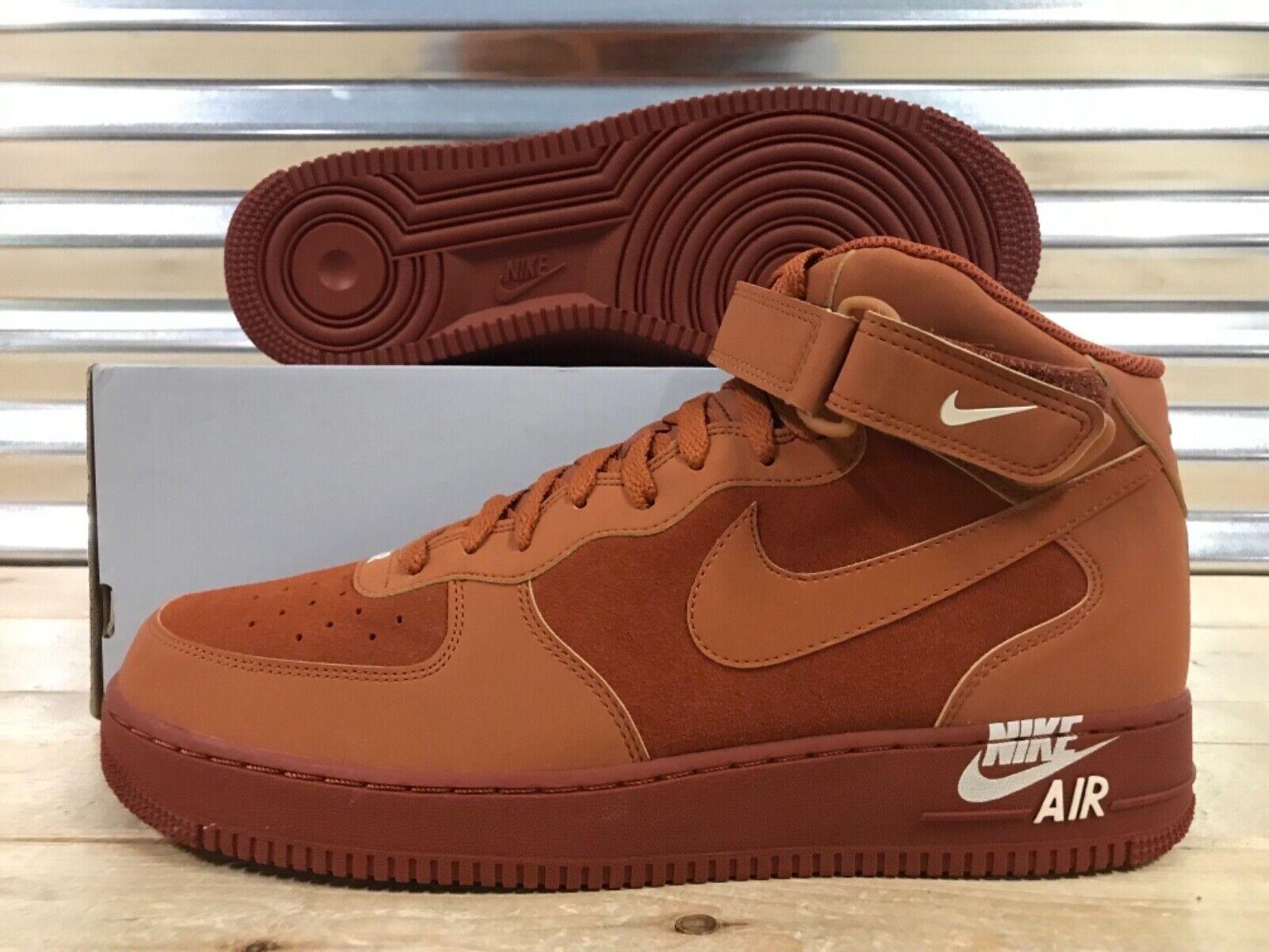 Nike Air Force 1 Mid '07 shoes AF1 Dark Russet Brown SZ 13 ( 315123-207 )
