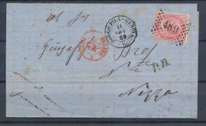 1869-Lettre-Italie-40c-obl-489-CAD-BORGO-PILA-GENOVA-pr-NIZZA-P4506