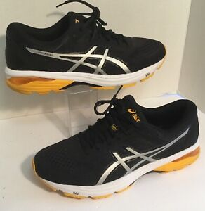 37a279c3 Details about ASICS Mens GT-1000 6 Running Shoe Black Gold Silver Size 11.5