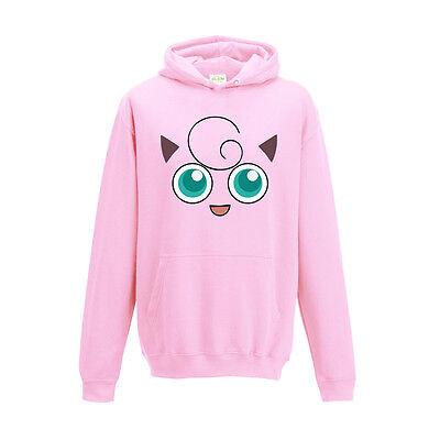 Pokemon Style Inspired Character Slowpoke Pink Game Printed Hoodie