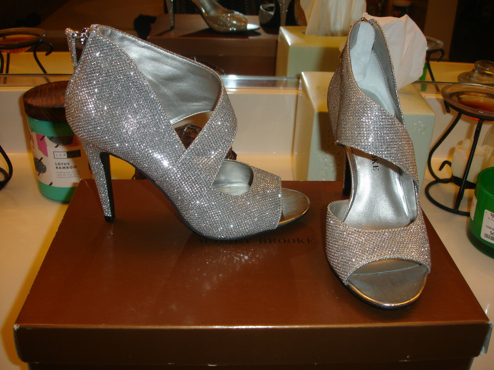 Audrey Brooke Glenda argent wedding Prom Christmas New Year Sexy Elegant 6.5  79