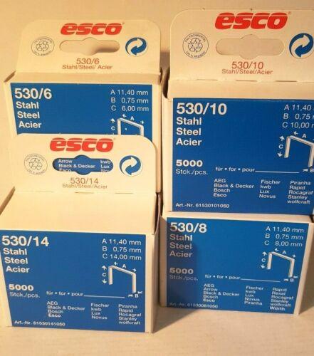 Parenthèses AGRAFEUSE ESCO 6,8,10 et 14 mm par 5000 pièce dos 11,4 mm