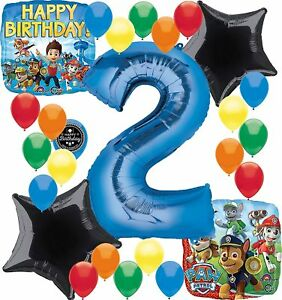 Image Is Loading Paw Patrol Birthday Party Supplies Number Balloon Decoration