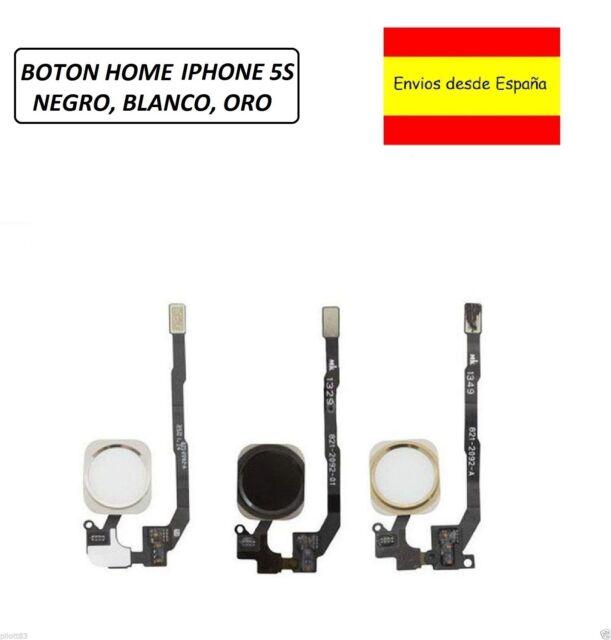 Flex Cable Boton Home Menu para Apple Iphone 5S  NEGRO BLANCO PLATA Y ORO