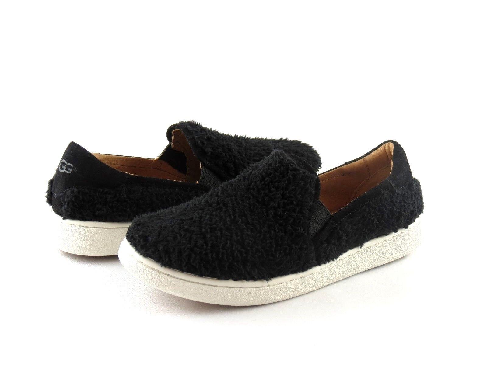 4869e5616a4 UGG Australia Ricci Black Sheepskin Shearling Slip on Loafer Sneaker Size 6