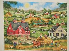 Bonnie White Hauling Hay 300 Piece Jigsaw Puzzle in Bag