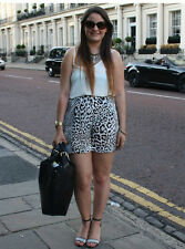 ZARA BLOGGERS! ANIMAL PRINT FLOWING SHORTS SIZE S SMALL