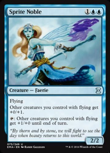 MTG x4 Sprite Noble Eternal Masters Uncommon Blue NM//M Magic the Gathering