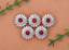 10X-Bling-Silver-Flower-Turquoise-Conchos-For-Leather-Craft-Belt-Wallet-Decor miniatuur 3