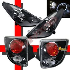 2000-2005 Toyota Celica Black LED Halo Projector Headlights & Tail Lights RH&LH