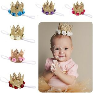 Baby-Princess-Flower-Headband-Headwear-Crown-Tiara-Lace-Hair-Band