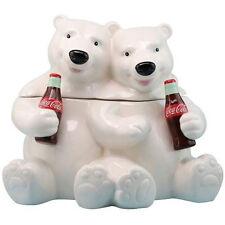 # New COCA COLA Cookie Jar WHITE POLAR BEARS COKE Cat Dog Pet Food TV Commercial