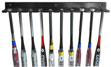 10-Bat Baseball Bat Display Rack Wall Hanger, Solid wood, B110-BLA
