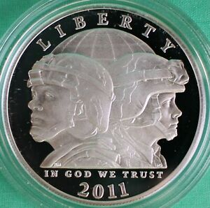 2011 BU US Mint Army Half Dollar Coin UNC Commemorative 50 Cents Complete