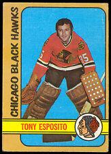 1972 73 TOPPS HOCKEY 20 TONY ESPOSITO EX CON CHICAGO BLACK HAWKS FRE SHIP TO USA