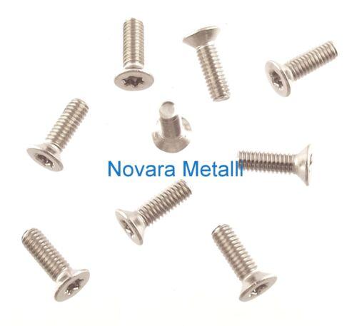 100 microviti TORX testa svasata M2,5x8 viti screws vis Schrauben Tornillos