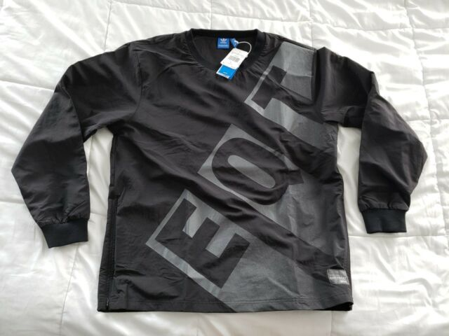 1940ac87f31f Men s Adidas EQT Large Overshirt Top Shirt Nylon Crewneck Pull Over  Reflective