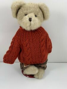 BOYDS-BEARS-Head-Bean-Collection-034-Rusty-B-Autumnfest-034-Best-Dressed-Series