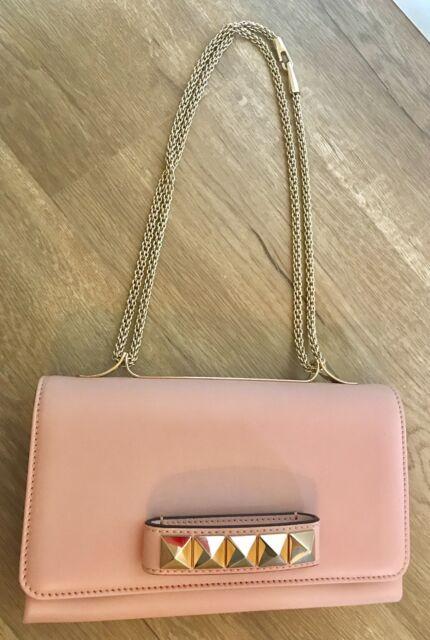 92f134c77b NWT VALENTINO GARAVANI Rockstud VA VA VOOM clutch bag in Water Rose Pink  $2,275