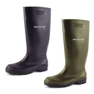 New-Mens-Ladies-Dunlop-Wellies-Snow-Rain-Waterproof-Wellington-Black-Boots-3-12