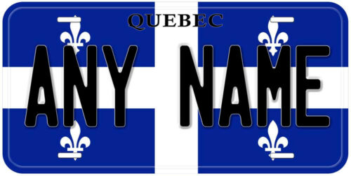 Quebec Flag Canada Aluminum Novelty Car License Plate