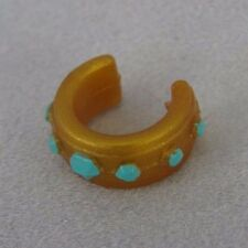 Littlest Pet Shop RARE AUTHENTIC LPS COLLAR ~ Gold & Turquoise ~ GIFT BAG!