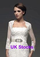 Lace Wedding Bridal Shrugs Jackets Boleros Long Sleeves Size S M L Xl